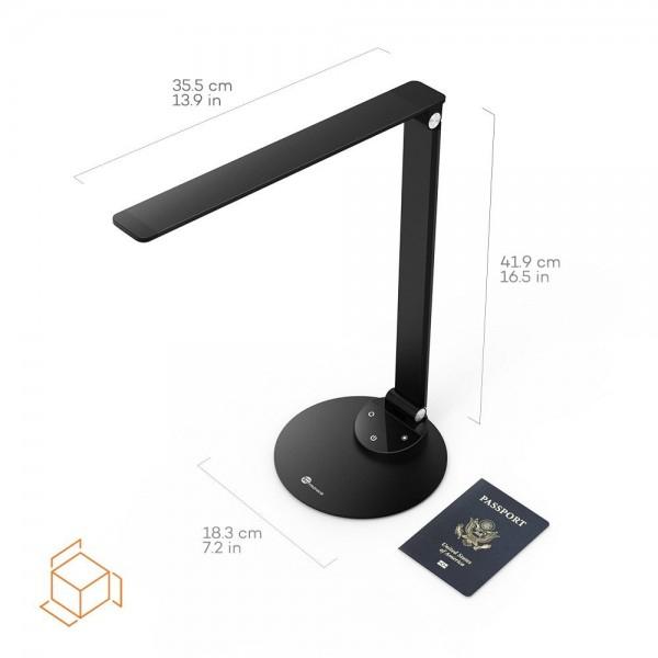 Lampa de birou LED TaoTronics, control Touch, 5 moduri de lumina, 9W, USB, Black 2