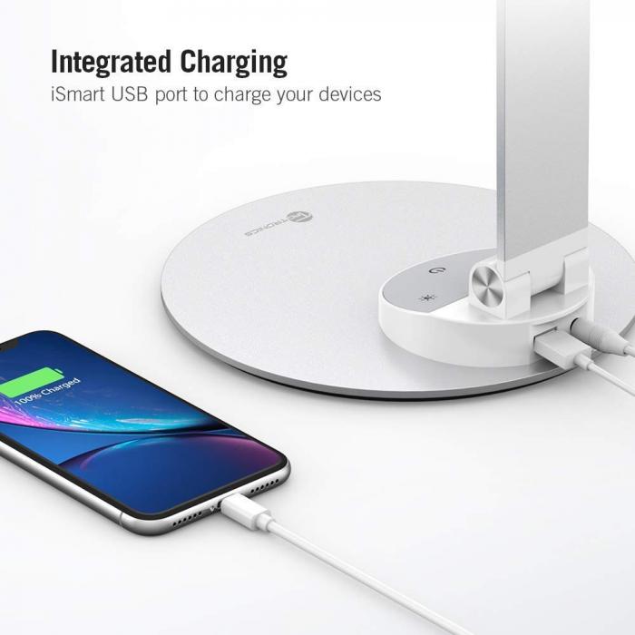 Lampa de birou LED TaoTronics, control Touch, 5 moduri de lumina, 9W, USB 4