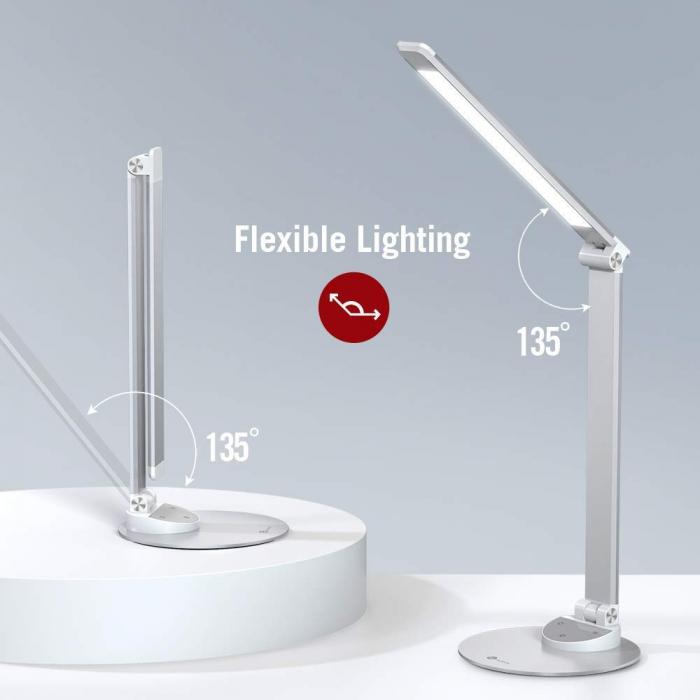 Lampa de birou LED TaoTronics, control Touch, 5 moduri de lumina, 9W, USB 3