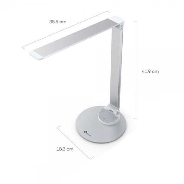 Lampa de birou LED TaoTronics, control Touch, 5 moduri de lumina, 9W, USB 1
