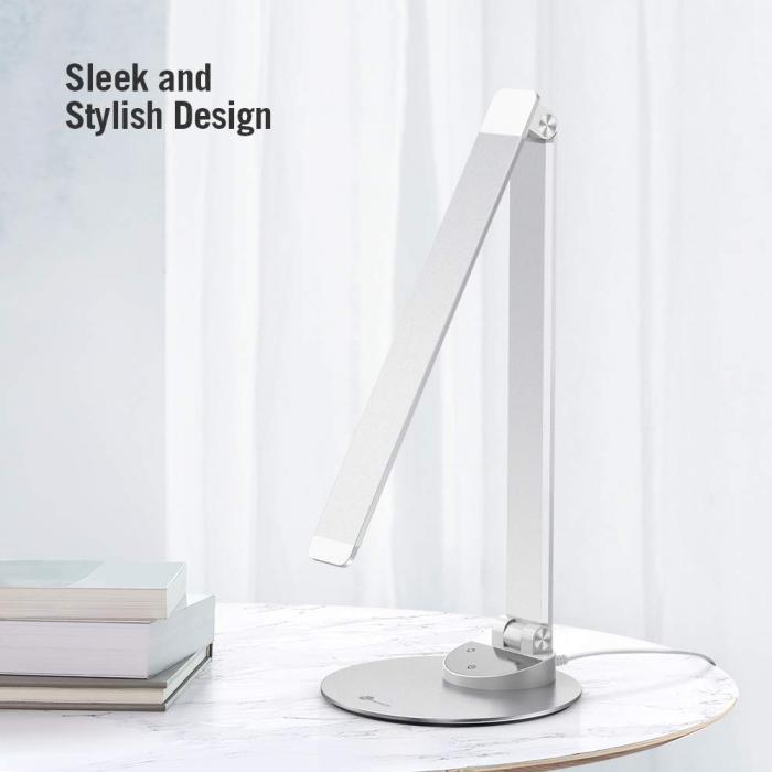 Lampa de birou LED TaoTronics, control Touch, 5 moduri de lumina, 9W, USB 2