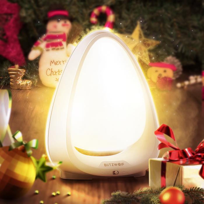 Lampa de Veghe BlitzWolf, reglare touch a intensitatii, lumina in deferite culori 4