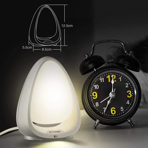 Lampa de Veghe BlitzWolf, reglare touch a intensitatii, lumina in deferite culori 5