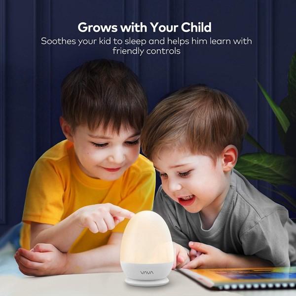 Lampa de Veghe Smart VAVA, lumina LED calda si rece, reglare Touch 3