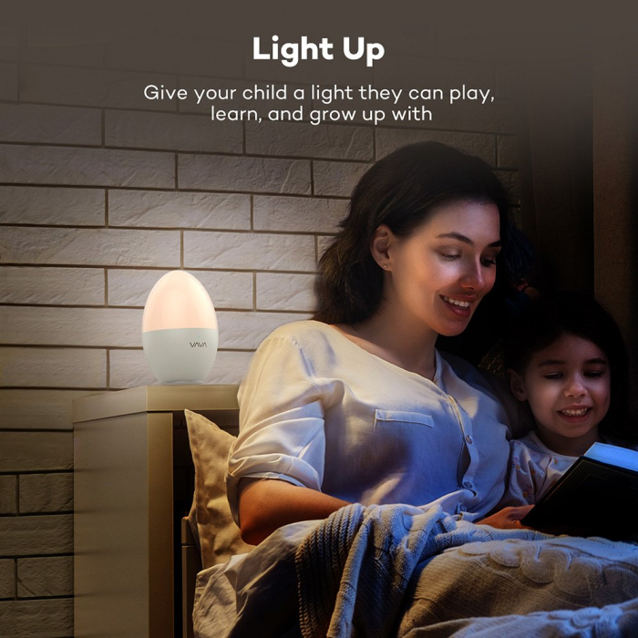 Lampa de Veghe Smart LED VAVA, lumina calda si rece, reglare Touch 5