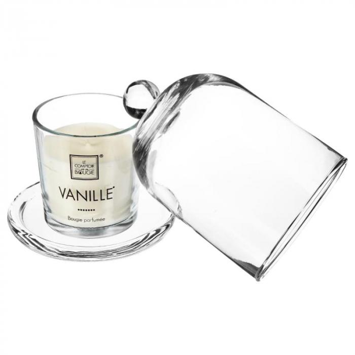Lumanare parfumata cu clopot sticla VANILLE, 120 grame 1