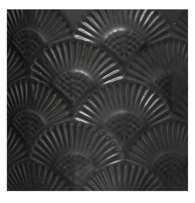 Lumanare parfumata FLOWER, cu pahar ceramic si capac, 190g, Negru 1