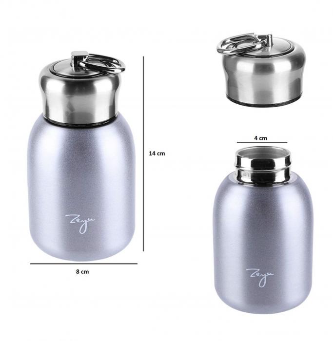 Mini Termos FASHION cu inel pentru transport, 200 ml 2