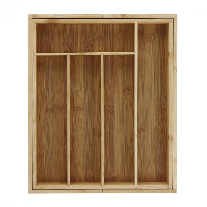 Organizator extensibil din Bambus pentru sertar, 28 x 33.5 cm 0