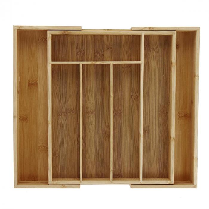 Set Organizator extensibil si 3 Tocatoare din Bambus [2]