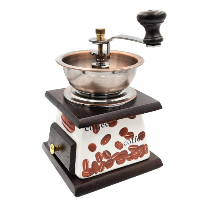 Rasnita manuala pentru Cafea cu sistem metalic pentru macinare, Rosu [0]