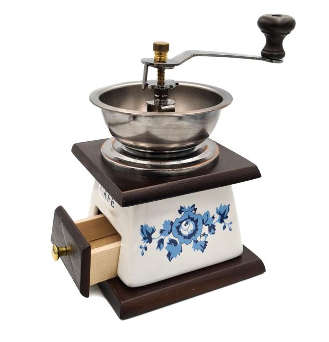 Rasnita manuala pentru Cafea cu sistem metalic pentru macinare, Albastru 1