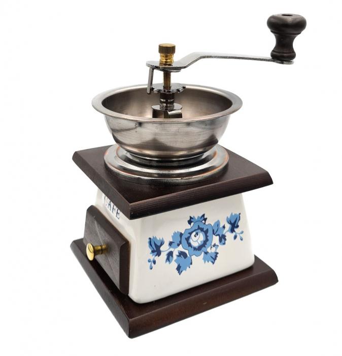 Rasnita manuala pentru Cafea cu sistem metalic pentru macinare, Albastru 0