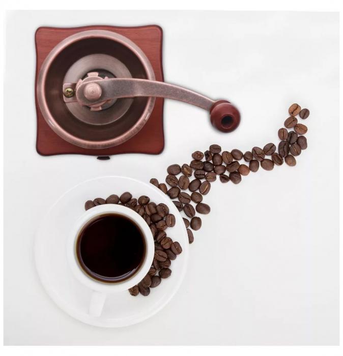 Rasnita manuala pentru Cafea cu sistem metalic pentru macinare, Maro 2