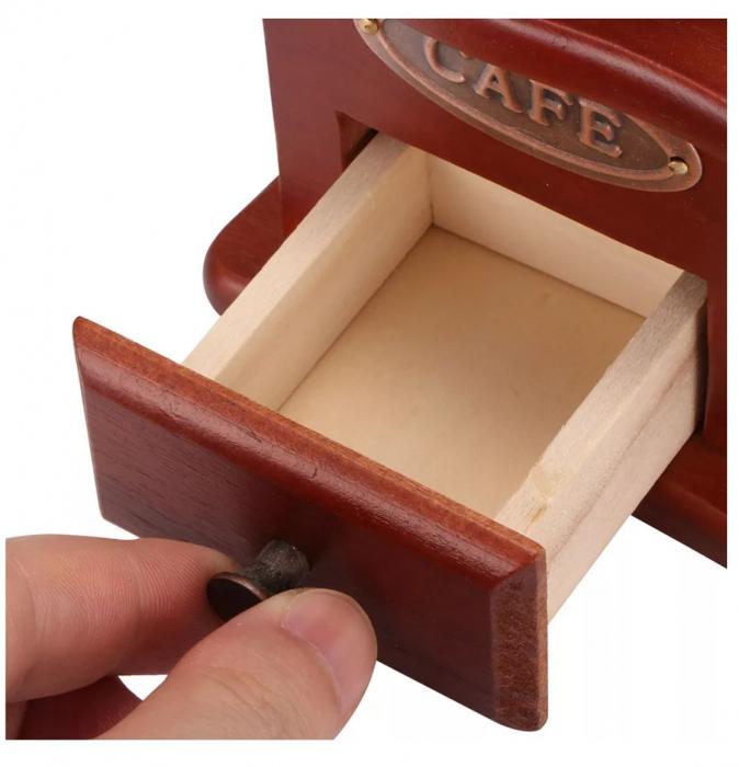 Rasnita manuala pentru Cafea cu sistem metalic pentru macinare, Maro 3
