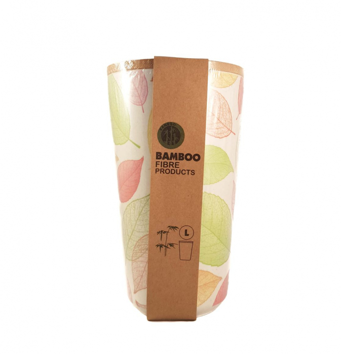 Set 3 recipiente pentru depozitare,Verde,din fibre de Bambus 2