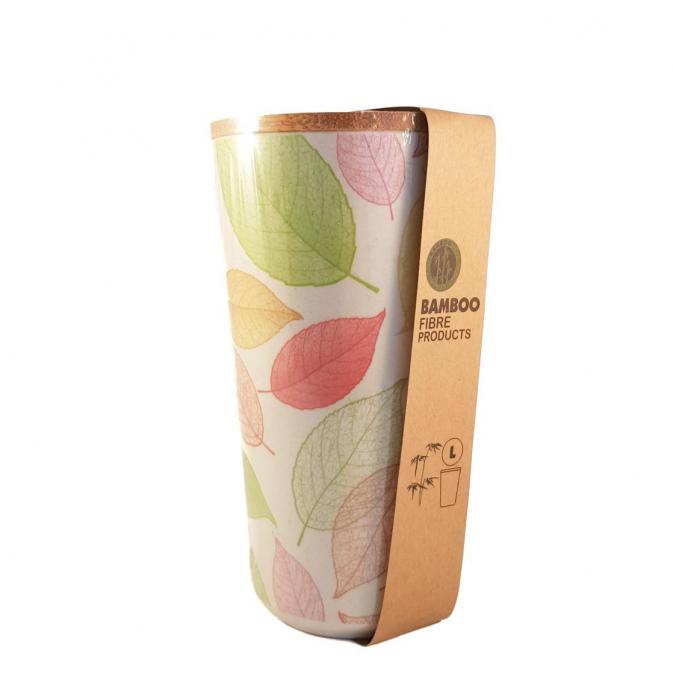 Recipient Verde L pentru depozitare, din fibre de Bambus 1