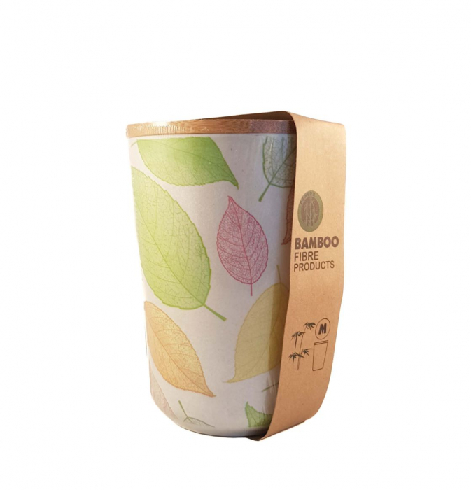 Set 3 recipiente pentru depozitare,Verde,din fibre de Bambus 4
