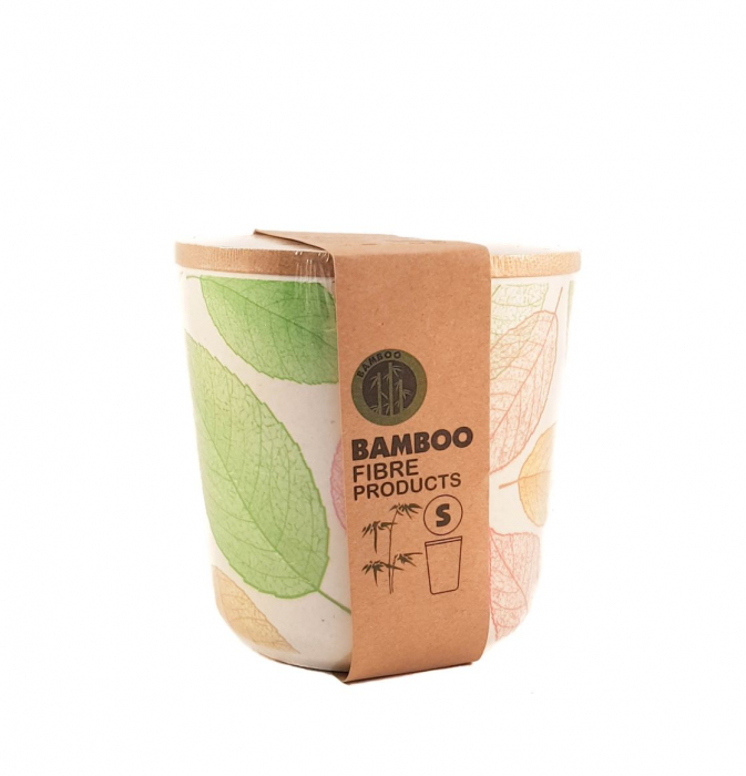 Set 3 recipiente pentru depozitare,Verde,din fibre de Bambus 3