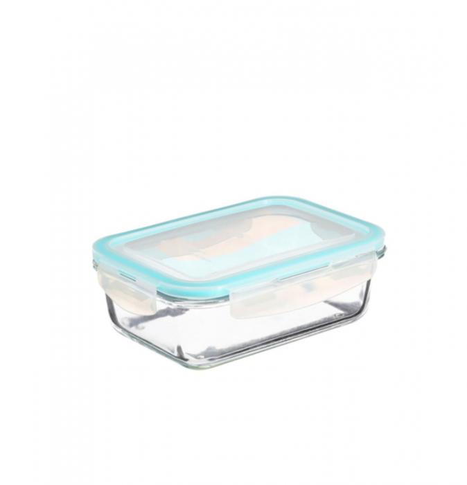 Set 3 cutii alimentare din sticla cu inchidere ermetica 3