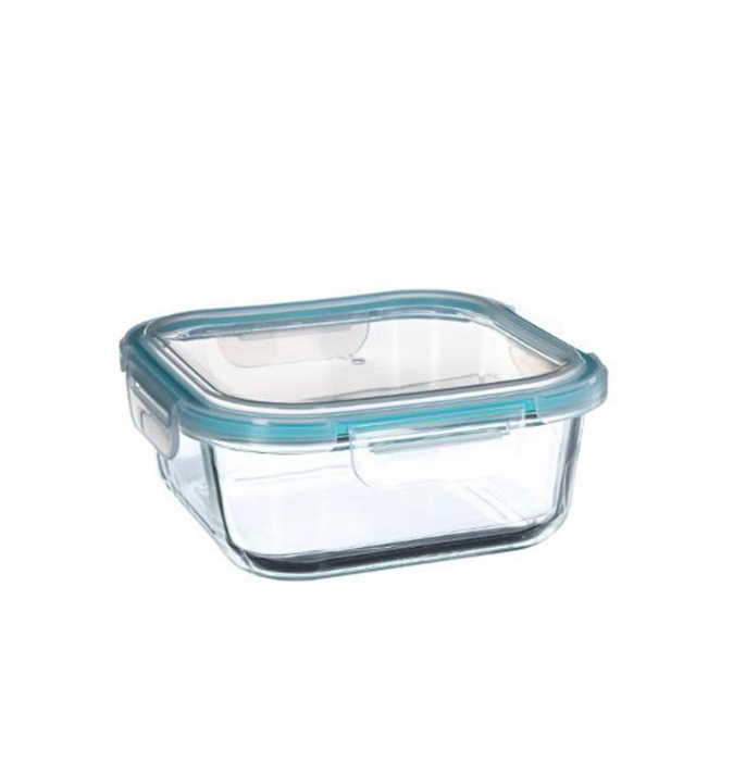 Set 3 cutii alimentare din sticla cu inchidere ermetica 2