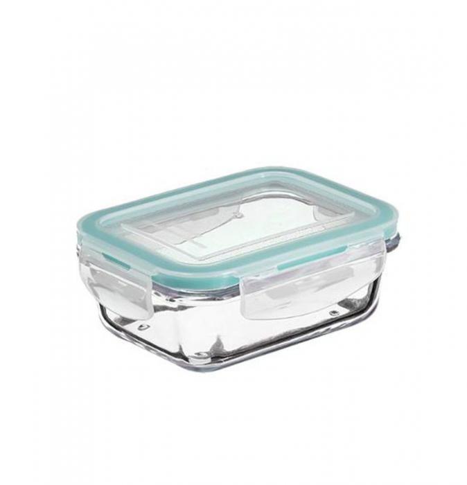 Set 3 cutii alimentare din sticla cu inchidere ermetica
