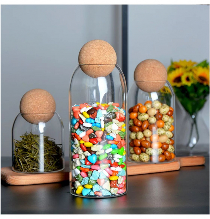 Set 3 recipiente din sticla borosilicata, SPHERE [2]