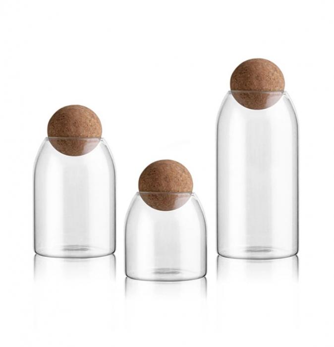 Set 3 recipiente din sticla borosilicata, SPHERE [4]