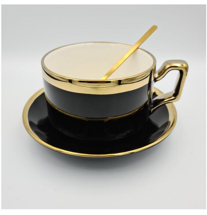 Set cafea Ceasca, farfurie si lingurita, QUALITY, 200 ml 1