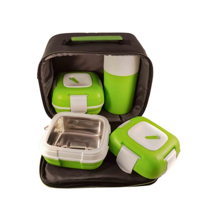 Set caserole PALOMA Verde pentru mancare, termoizolante 0