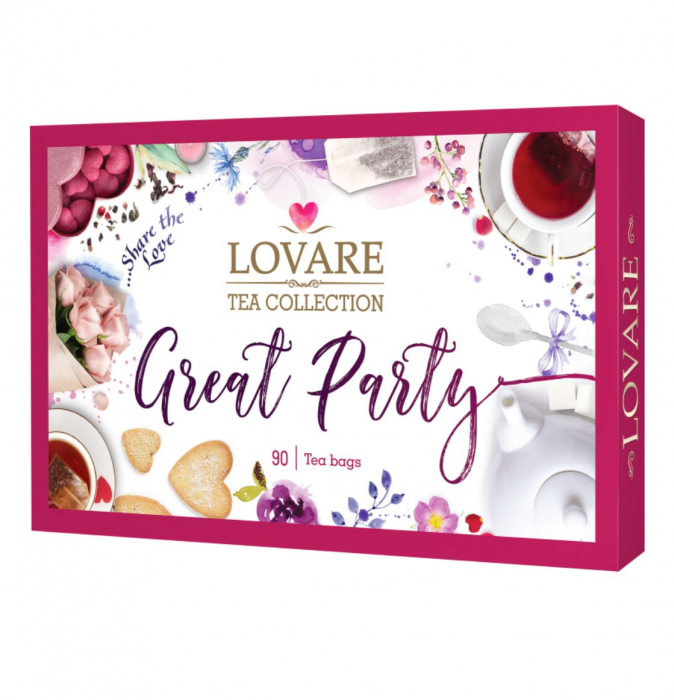 """Set Ceai """"Great Party"""" 90 pliculete, 153.5g [0]"""