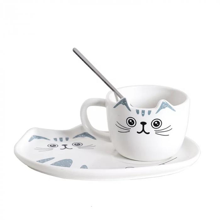 Set Ceasca cu Platou si Lingurita 200 ml, CAT 1
