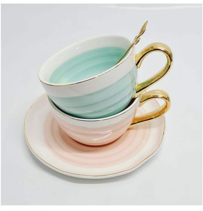 Set din Ceramica, Ceasca, Farfurie si Lingurita, LIFE [4]