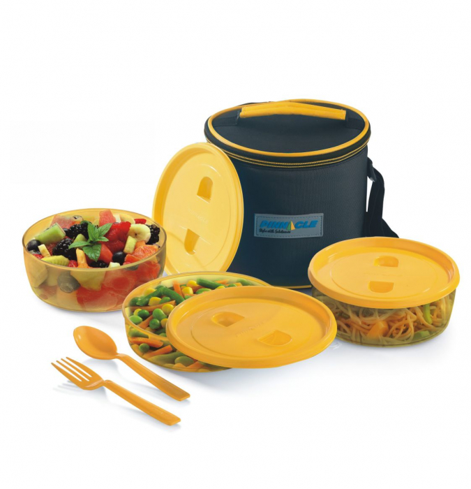 Set Lunch Box PRIDE Thermo, 6 piese, Galben 0