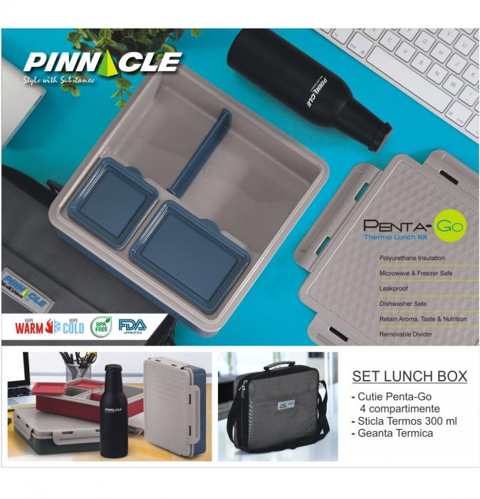 Set Lunch Box Cutie Alimente, Sticla Termos, Geanta Termica 0
