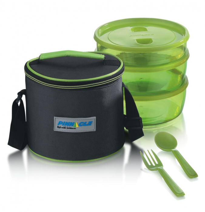 Set Lunch Box PRIDE Thermo, 6 piese, Verde 0