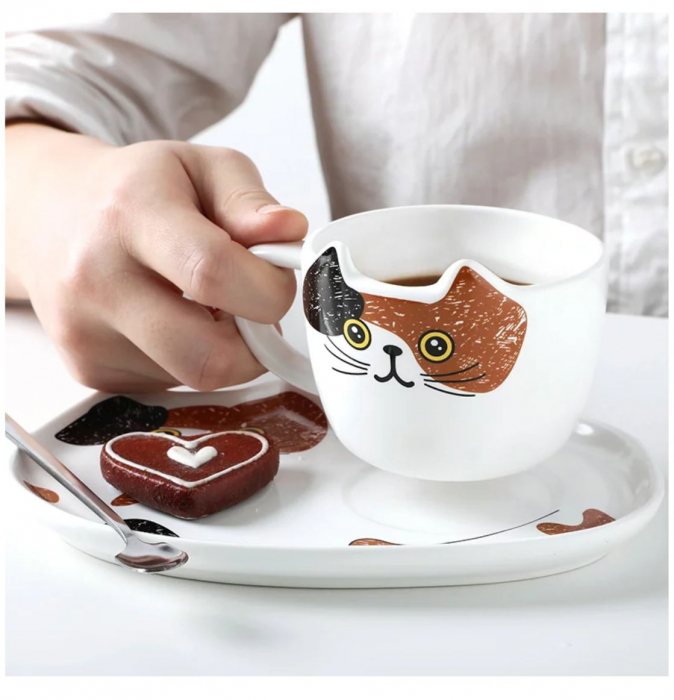 Set Ceasca cu Platou si Lingurita 200 ml, CAT [2]