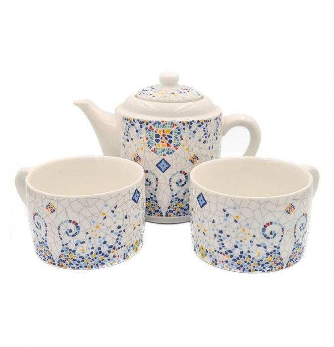 Set TEA FOR TWO Ceainic cu infuzor si 2 cesti, GAUDI 0