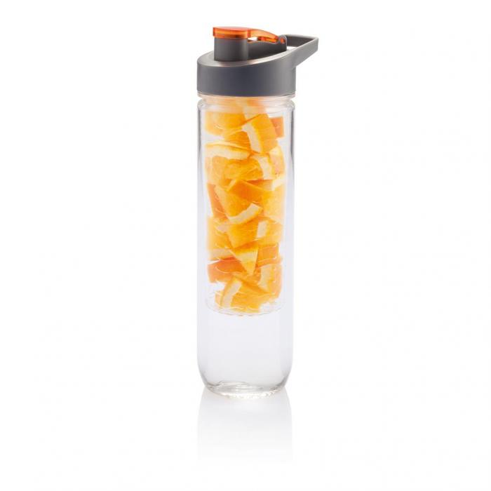 Sticla apa cu infuzor pentru fructe 800 ml - Orange 0
