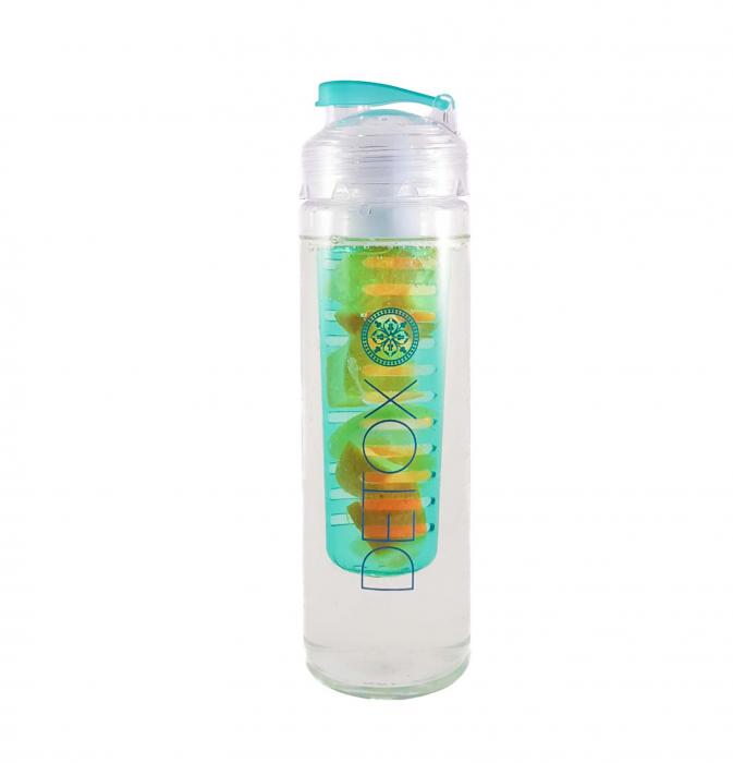 Sticla Detox cu infuzor pentru fructe,Albastru, 650 ml 0