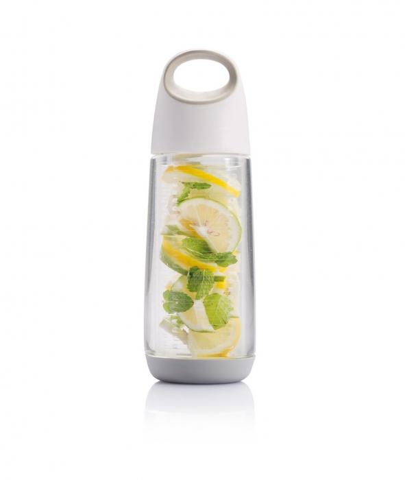 Sticla cu infuzor pentru fructe, Tritan, 650 ml, Bopp - Alba [0]