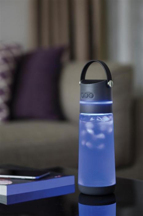 Sticla apa inteligenta, cu lumina si boxa bluetooth 3 W 0