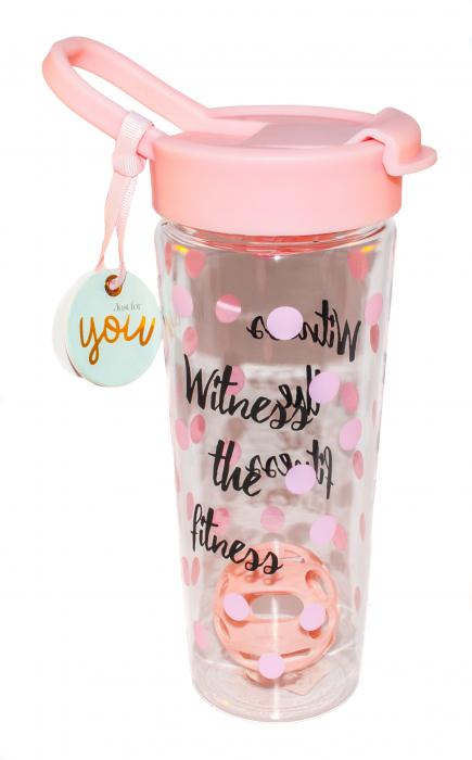 Sticla pentru apa si shake-uri proteice - Witness The Fitness 0