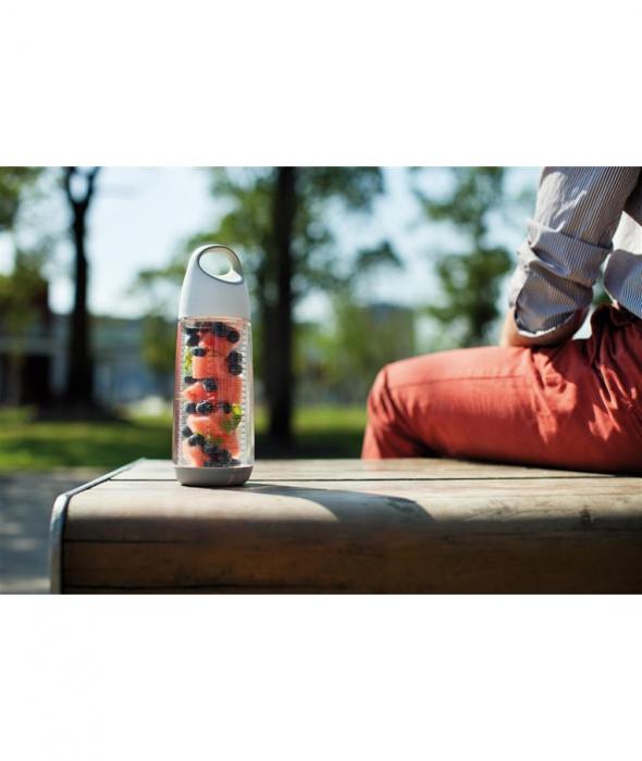 Sticla cu infuzor pentru fructe, Tritan, 650 ml, Bopp - Alba [2]