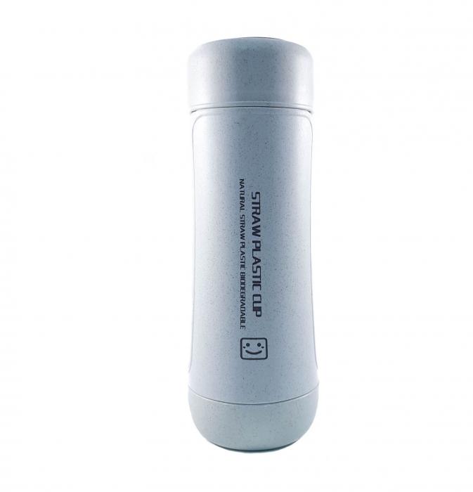 Sticla Termos ,protectie Biodegradabila, Albastru, 330 ml 1