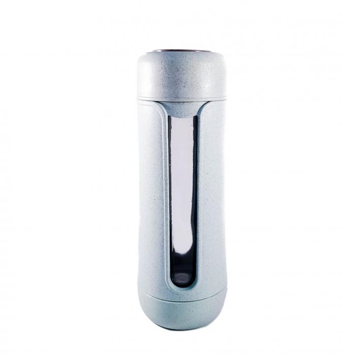 Sticla Termos ,protectie Biodegradabila, Albastru, 330 ml 2
