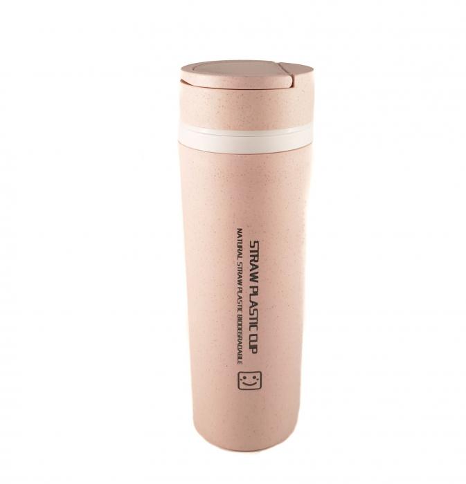 Sticla Termos ,protectie  Biodegradabila, Mov, 330 ml 1