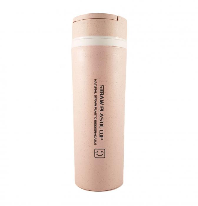 Sticla Termos ,protectie  Biodegradabila, Mov, 330 ml 0