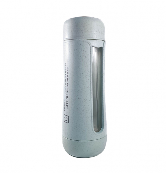 Sticla Termos ,protectie Biodegradabila, Albastru, 330 ml 0