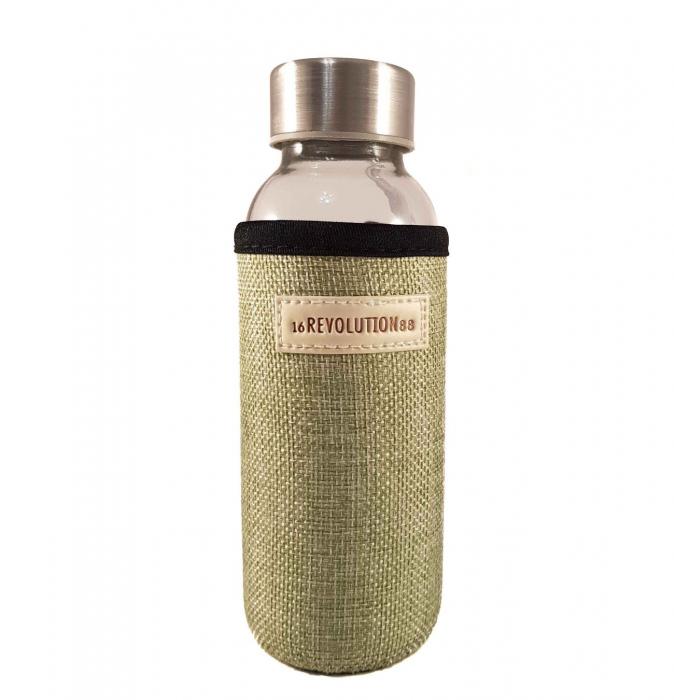 Sticla cu protectie Neopren,Verde, 300 ml 0